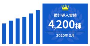累計導入実績4200棟以上